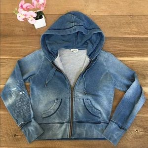 True religion hoodie Distressed sweater Small